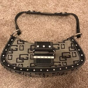 Leather diamond studded GUESS purse